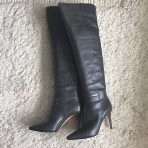 Gianvito Rossi Tall Boots. Rich Grey. Size 38
